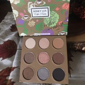 Winky Lux Coffee Palette coffee scented eyeshadow